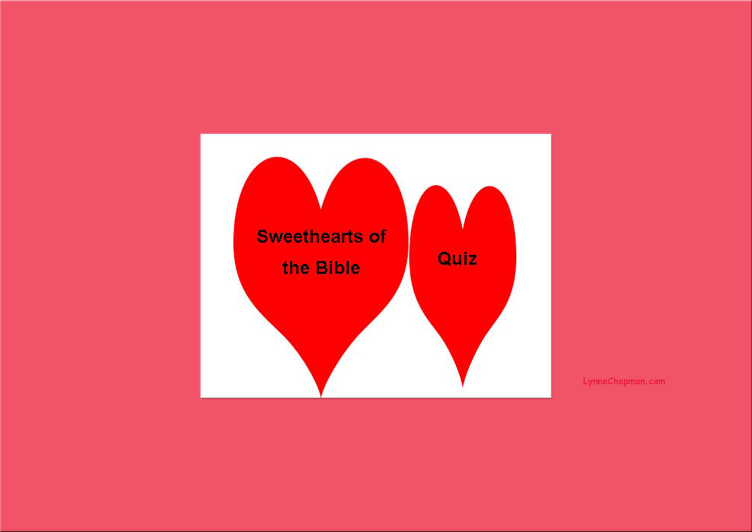Sweethearts of the Bible Quiz