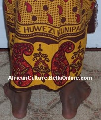 View of a khanga from the back