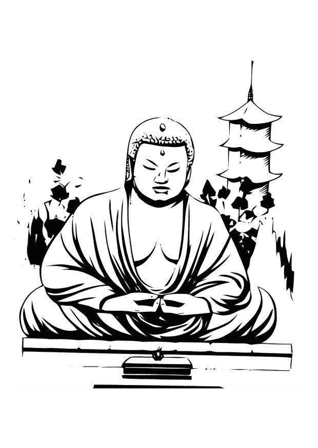 Buddhist Inspired Coloring Sheets Buddhism