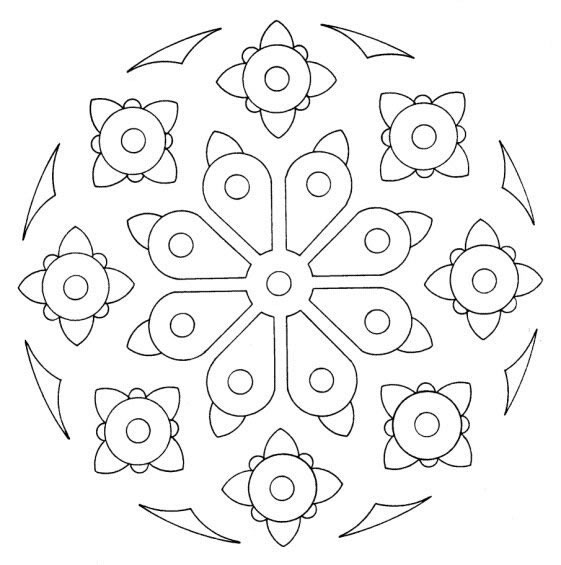 Free Coloring Pages Buddhist Mandala Coloring Pages