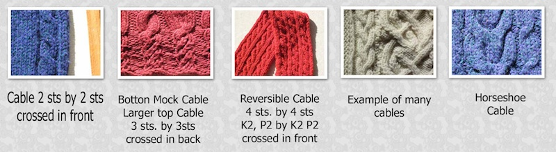 Examples of different cables