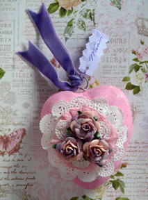 paperclay heart Valentine photo