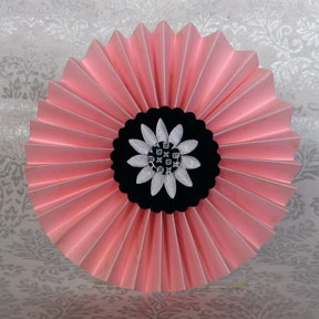 Make a fan fold flower paper crafts fan fold flower photo mightylinksfo Choice Image