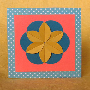 geometric flower gift tag photo