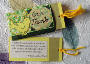 mini gratitude journal tags