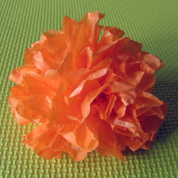 halloween tissue paper flower photo