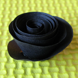 halloween paper rose photo