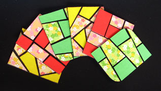 paper mosaic magnet photo