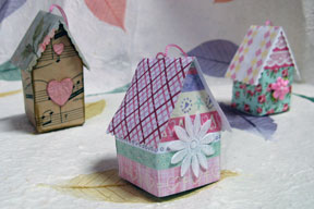 Bird house ornaments photo