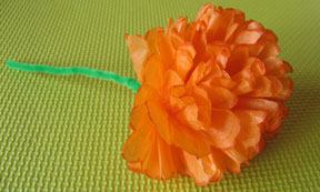 tissue paper flower photo