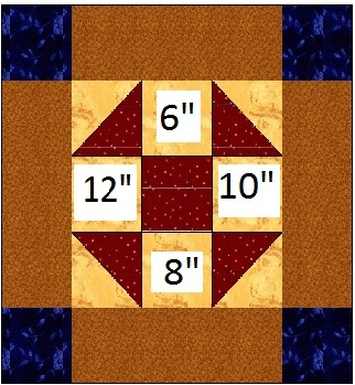 Basic 9 Patch Quilt Block Pattern - Zero Math Traditional Patch