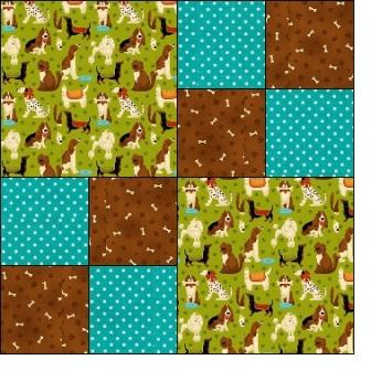 Four Patch - Free Quilt Block Patterns - Patchwork Square