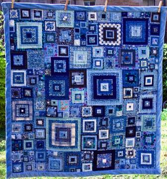 Blue Monochromatic Color Scheme quilt color schemes - quilting